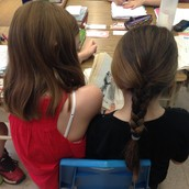 Hannah and Claire buddy reading!