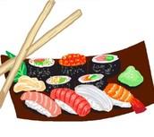 ROLLS/ URAMAKIS (alga nori y arroz por fuera)- 8 UNIDADES