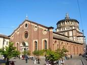 La iglesia de Santa María delle Grazie, Milán