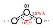 Связь в молекуле озона