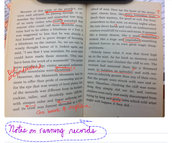 Use scissors to move written notes
