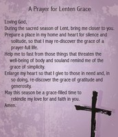Prayer for Lenten Grace