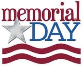 MEMORIAL DAY, Monday, May 25