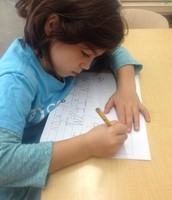 Students all found their own writing spots.