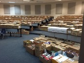 1,200+ boxes of books