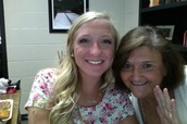Olivia Griep and Mrs. Coby