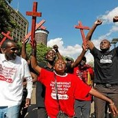 Kenyan people standing up for what they believe