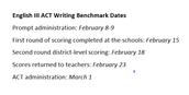 English III ACT Writing Benchmark