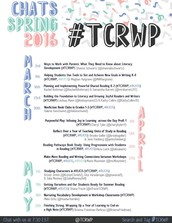 #TCRWP (Teachers College Reading and Writing Project) Twitter Chats