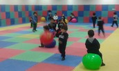 Bouncing ball at the Gym room