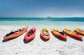 El kayac en la playa