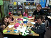 2nd Graders Making Their Baskets