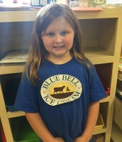 Paige sporting her Blue Bell shirt!