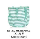 Retro Metro Bag - Turquiose Wave