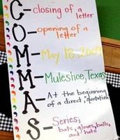 Anchor Chart - Commas