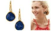 Serenity Small Stone Drop Earrings--Lapis