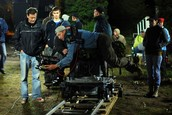 Cinematographer Working Camera on Dolly