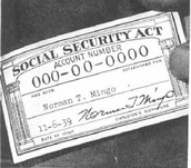 The first Social Security card that was given out.