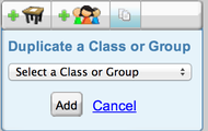 Select a Class or Group to Duplicate