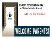 Last Parent Observation Day of the School Year!