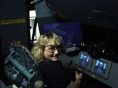In the Commander's seat of Shuttle Simulator
