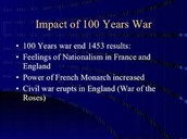 The Impacts of The Hundred Years War.