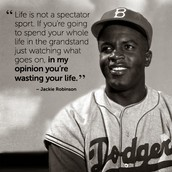 Jackie Robinson and his adversities; Option #2
