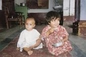 Malala and her little brother Khushal.