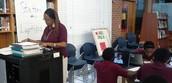 Teachers monitor progress