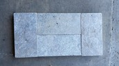 Silver 6x12 Tumbled Pavers