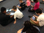 Using iPads to find Similes & Metaphors