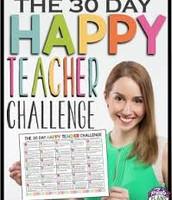The 30 Day Happy Teacher Challenge