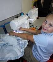 Sewing projects personalized to each students' level