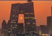 CCTV headquarters in Beijing, China.