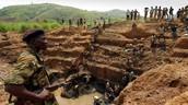 Un mines de matieres premieres au Congo