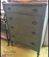 Boxwood Green Milk Painted 4-Drawer Dresser - $ 245