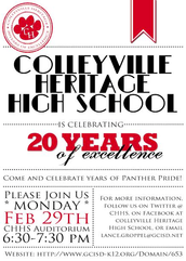 CELEBRATE 20 YEARS AT CHHS