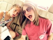 Me and my little riding in the car