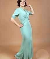 1930s green dress