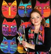 Laurel Burch Inspired Cats