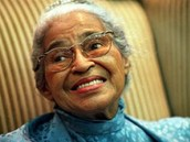 This is Rosa Parks when she is older