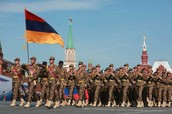 Armenian Flag and Soldiers