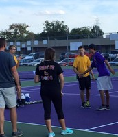 Sr. Jordan Shuler on Tennis Senior Night.