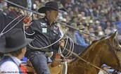 This is Trevor Brazile getting ready to rope a steer.