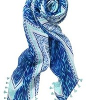 Blue Ikat Summer Wrap