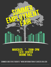 UGA Summer Employment Fair Tomorrow