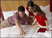 Family Making an Evacuation Plan