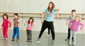 Girls dance class.