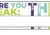 THINK before you Speak name tag template