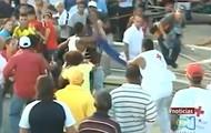 A Cuban protestor beaten by Castro thug.